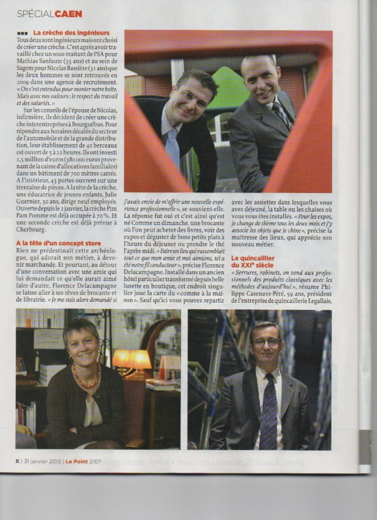 "Article ""LE POINT"" du 31 janvier 2013"