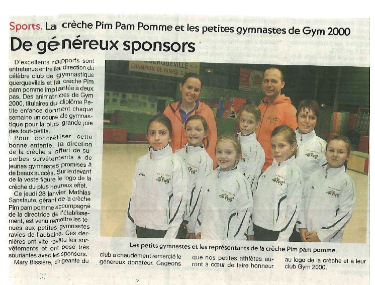 "Article ""Presse de la Manche"" : Gym 2000"